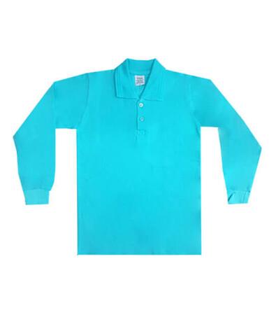 Alkan - Unisex Yetişkin Polo Yaka Uzun Kollu Tişört